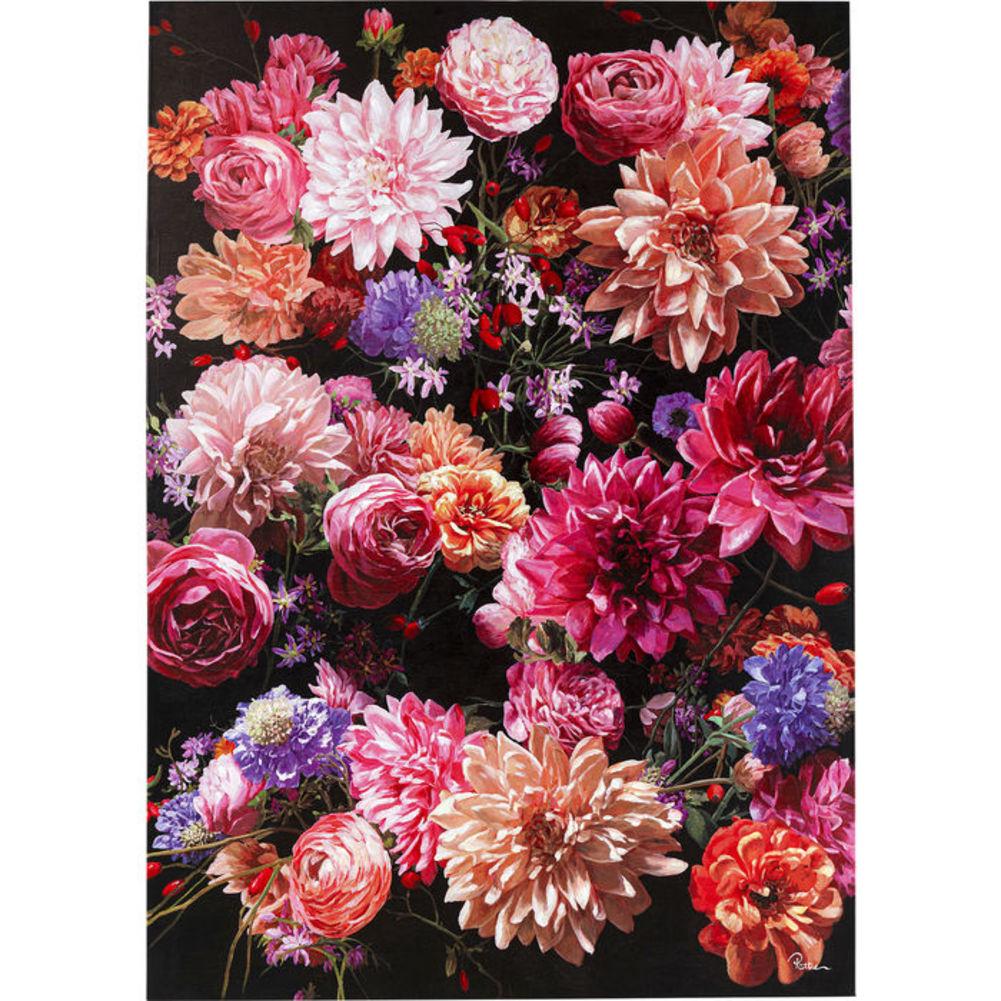 Πίνακας Touched Flower Bouquet Πολύχρωμος 200x140 εκ.