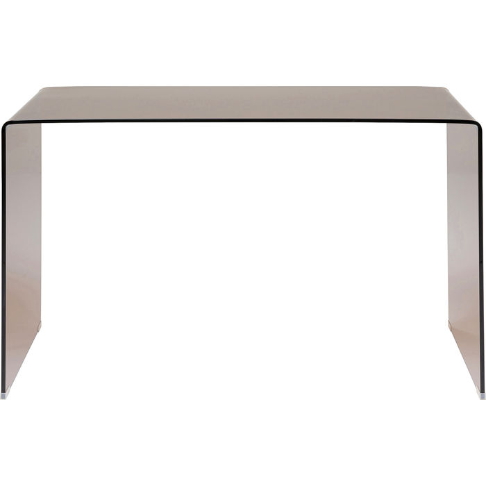 Desk Visible Club Amber Glass Brown 125x60x78cm