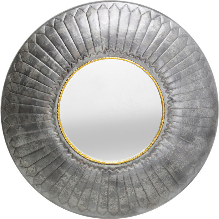 Wall Mirror Rope Grey-Gold 115x115x9cm