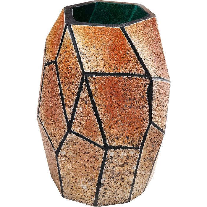 Βάζο Stone Χρυσό Μεσαίο Γυάλινο