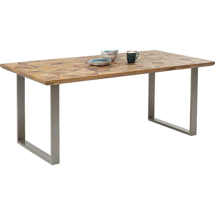 Table Stars Brown-Silver 180x90cm