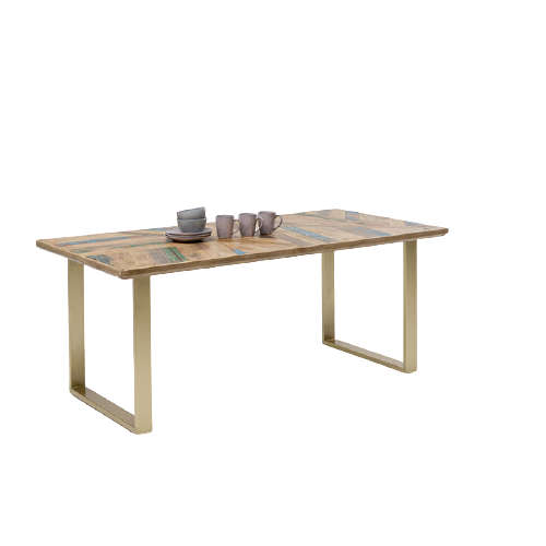 Table Abstract Brass Brown-Gold 180x90cm