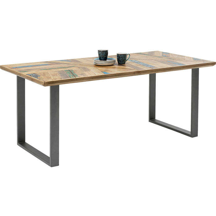 Table Abstract Acier Brut Brown-Grey 180x90cm