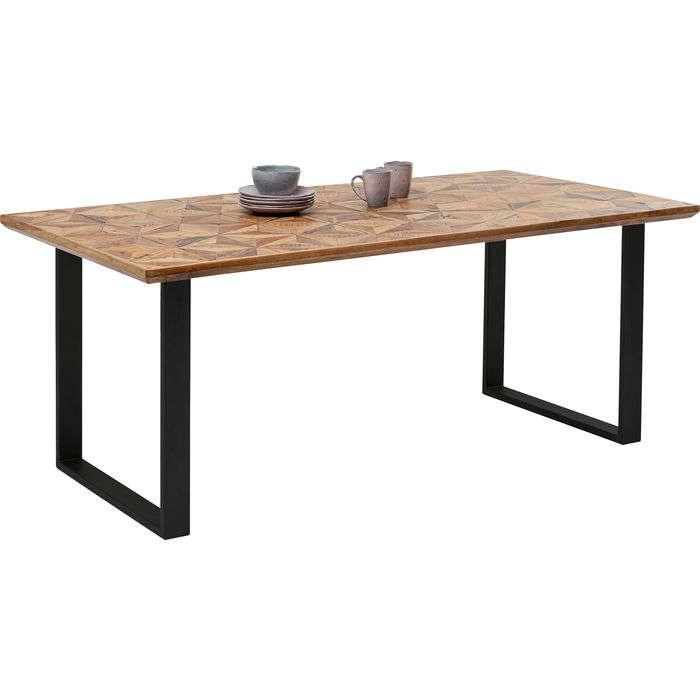 Table Stars Brown-Black 180x90cm