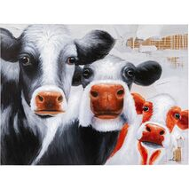 Canvas Painting Snoopy Cows Multicolored 90x120cm
