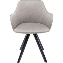 Swivel Chair With Armrests Lady Loco Grey-Beige