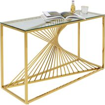 Console Laser Metal-Glass Gold 120x40cm
