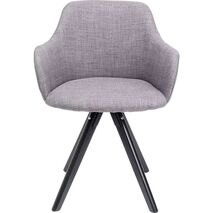 Swivel Chair With Armrests Lady Loco Grey