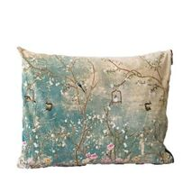 Cushion Paradise Blossoming Tree Branches Turquoise-Beige 60x40cm