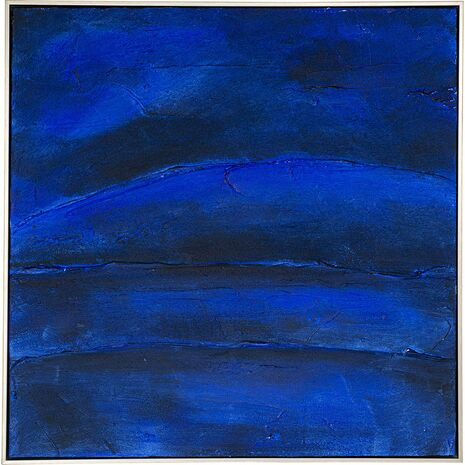 Πίνακας Σε Καμβά Deep Blue Μπλε 80x80 εκ.